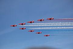 RAF Red Arrows (scottish_emergency_vehicles) Tags: red force air royal scottish airshow arrows redarrows raf 2015 scottishairshow2015