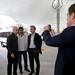 Mauricio Macri inaugura la nueva estación terminal de combis, en Puerto Madero.-