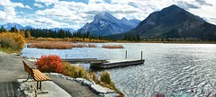Vermilliion Lake, Banff National Park, Alberta - ps6442-48 (photos by Bob V) Tags: mountains rockies rockymountains banff banffpark banffnationalpark banffalberta banffalbertacanada alberta albertacanada lake mountainlake vermillionlake vermillionlakes sulphurmountain mountrundle panorama mountainpanorama cans2s iamcanadian