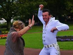 Elvis Lives #1 (hurlham) Tags: humorous candids elvispresley neath municipalparks
