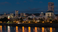 By the Dawn's Early Light (Wolfy) Tags: lighting blue summer orange usa reflection building architecture night oregon river portland outdoors lights us twilight chinatown cityscape unitedstatesofamerica citylights northamerica lamps bluehour oldtown willametteriver downtownportland exteriors electriclight electriclighting exteriorview