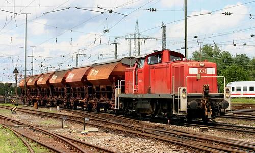 BR 294 113-6 Schotterzug, Basel Bad Bhf