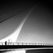 The foggy bridge - Dublin, Ireland - Black and white street photography