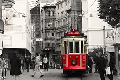 IMG_4311 (Ali Sabbagh) Tags: world travel red color canon turkey tram istanbul splash istiklal eos7d