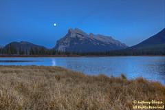 "Vermilion Lakes at dusk October 24, 2015 (Anthony ""Tony G"" Gliozzo (Web Site is ocbirds.com)) Tags: ca canada wildlife alberta banff missionviejo albertacanada banffnationalpark vermilionlakes anthonygliozzo"