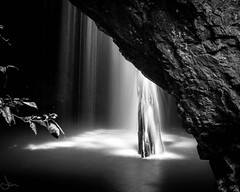 Falling for you.... (jenni 101) Tags: longexposure blackandwhite water monochrome waterfall naturalbridge softwater seqld