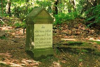 Hier endete Johann Gottlieb Lupetius...