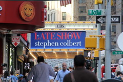 On the Great White Way (DC Products) Tags: newyorkcity newyork tv manhattan broadway midtown edsullivantheater 2015 filminglocations thelateshowwithstephencolbert
