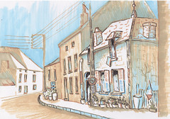 France. Old Town Street (Kate_Lokteva) Tags: art sketch drawing sketchbook marker draw markers artworks letraset promarkers