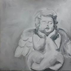 Nr68: Engelchen (yv_art) Tags: art painting artwork gallery drawing modernart kunst fineart loveit modernekunst öl beautyful malerei gemälde ölgemälde artgermany oelbild ölaufleinwand yvart squaredblog