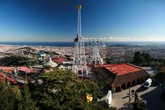 Tibidabo (Jorge Franganillo) Tags: barcelona españa fairgrounds spain fairground ferriswheel amusementpark lunapark catalunya bigwheel cataluña tibidabo noria parquedeatracciones parcdatraccions