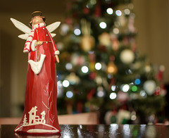 Herald (pogmomadra) Tags: christmas red tree green angel wednesday lights bottle blurry nikon peace bokeh dove blush hbw hbwt happybokehwednesday d5300
