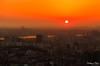 Seoul skyline at sunset (gunman47) Tags: 2016 asia asian hill korea korean n namsan october rok red republic seoul south tower dusk landscape orange park photography sky skyline sun sunset urban yellow 서울 southkorea outdoor