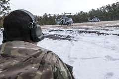 170110-Z-NI803-327 (New Jersey National Guard) Tags: usa usarmy usarmynationalguard nationalguard armynationalguard soldier soldiers jointtraining jointtrainingexercise winter snow nj newjersey jointbasemcguiredixlakehurst jointbasemdl usmc usmarinecorps marines marineaviation mag49 cobra huey supercobra usmarinereserve helicopter attackhelicopter closeairsupport forwardaircontrol armedforces military training exercise ah1 uh1y venom bellhelicopter superhuey yankee fortdix range hvt highvaluetarget airassault radio tactical airinsertion m4 m240b smoke