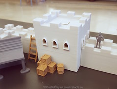 3DCastlePlayset.Creativetools.se 2016-12-08 (Creative Tools) Tags: castle castles toy playset toys wall toykit tower towers house miniatures medieval cow pig horse goat sheep windmill siegetower catapult well barrel box ladder fence animals assembly joint butterflyjoint fort children childrenstoys fortress block blocktoys desktoptoys desktoptoy desktop