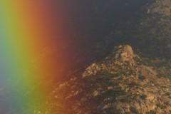 Rainbow on the rocks (jimsc) Tags: rainbow rocks landscape scenic ngc desert sonorandesert arizona tucson catalina pimacounty blue green yellow orange red purple january winter arcoiris regenbogen arcobaleno panasonic lumix fz200 jimsc