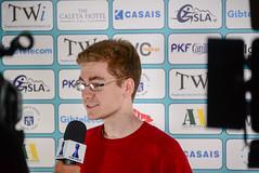 David Anton Guijarro press interview (Johnchess) Tags: 29january2017 round6 tradewisegibraltarmasters
