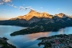 View from Above, Waterton Park (Brian Krouskie) Tags: waterton park alberta mountain lake town buildings bear hump summit clouds sky outdoor landscape