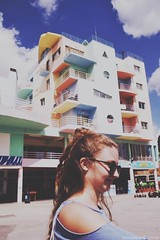 (bvanm) Tags: girl albufeira fashin fashion mode dress blue sky vintage town city quote sunglasses vacation smile curles curly curlyhair pastel pastelcolor colours