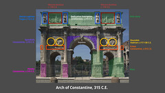 Diagram, Arch of Constantine