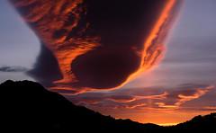 Invasion (mcumminsphotos) Tags: winter andalusia axarquia competa sunrise clouds redsky january andalucia lenticular sun pillar spain spaceship mountains hills silhouette wow