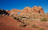 Return hike: view of Jeep Arch from the gap... 20160925_6752 (listorama) Tags: usa utah moab jeeparch goldbararch arch