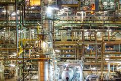 Siga esa tubería... (emosqueira) Tags: coruña fotografía galicia nocturna refinería acoruña españa es