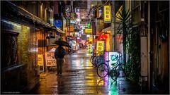 Osaka in the rain (Chris Lue Shing) Tags: fujifilmxt10 japan asia osaka osakashi dotonbori travel street city night lights rain reflections shinsaibashi ©chrislueshing fujinonxf1855mmf284 fujifilm fuji xf1855 1855 xt10