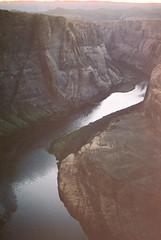A Deflecting Perspective (Marc Rodriguez 24) Tags: cinestill 50 daylight 50d 50daylight nikon f3 f3hp nikkor 50mm 14 ais prime lens 35mm color negative film analog analogue manual photography horseshoe bend page arizona az colorado river sandstone canyon landscape nature scan dust