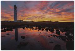Barns Ness Lighthouse at Sunset-5 (Gordon_Farquhar) Tags: dunbar west barns beach lothian ness lighthouse torness power station scotland scottish east coast
