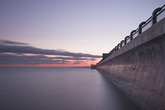 Water Barrier (MartinSommer) Tags: sunset longexposure water seascape reflection sunrise rc harris treatment plant nikon toronto ontario wow