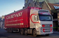 Causeway Pallets and Transport Ballymoney Volvo FH DRZ7886 in St Andrews, 19/1/17 (andyflyer) Tags: causewaypalletsandtransport causeway causewaypallets ballymoney volvofh drz7886 truck haulage lorry hgv transport roadhaulage