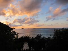 IMG_0220 (Mr Flikker) Tags: bvi britishvirginislands water clouds caribbean sunset ship sails sailboat sky serene rocks