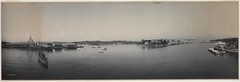 Panorama of Garden Island and Woolloomooloo Bay, 1904 / by Melvin Vaniman (State Library of New South Wales collection) Tags: statelibraryofnewsouthwales panorama