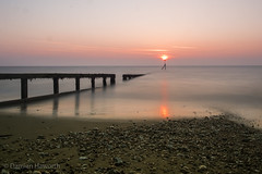 Sandown Sunrise (hov1s@) Tags: sunrise samyang samyangf216mm sandown isleofwight nikon nikond7100 seascape groyne longexposure lr5
