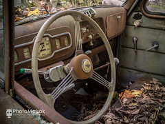 I rather not be the one behind the wheel (Explored) (photoMakak) Tags: 6d canon6d canon canonef1740mmf4lusm photomakak mementomori mementomoriphoto urbex decay abandoned abandonné urbanexploration derelict rurex ruralexplorer ruraldecay ruralexploration voiture automobile auto car volant steeringwheel