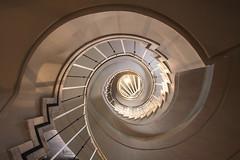 The white one (Elbmaedchen) Tags: staircase treppenauge escaliers escaleras kranzler berlin spirale spirals