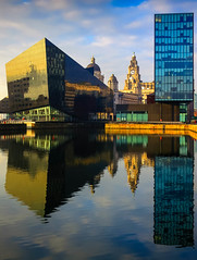 BRYAN_20170123_IMG_1032 (stephenbryan825) Tags: 3graces canningdock liverpool mannisland royalliverbuilding buildings reflection selects water