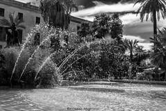 Fountain (BryzePhoto) Tags: trapani trapanese sicily italy bw monocromatico monochrome monotone biancoenero blackandwhite acqua water fountain fontana drops gocce
