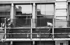 window washers (street stars) Tags: bw blackandwhite streetphotography nyc soho urban city ny