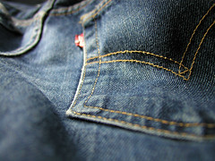 my favorite jeans (massdistraction) Tags: bluejeans jeans comfy favoritejeans levis naturallight mycooljeans psfk saintpaul minnesota usa availablelight sunlight blue yellow redtag