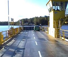 Sole occupant, Karelia, Finland 2003 (PhillipC) Tags: 2003 15fav lake car topv111 ferry finland karelia 111v1f