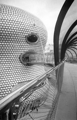selfridges, birmingham, england (Jules T!!) Tags: uk greatbritain bridge england blackandwhite bw wow top20bw cool birmingham europa europe unitedkingdom eu selfridges gb shops disposablecamera filmcamera westmidlands europeanunion bullring brum disposable midlands evropa themidlands brummie 123bw thenixonator