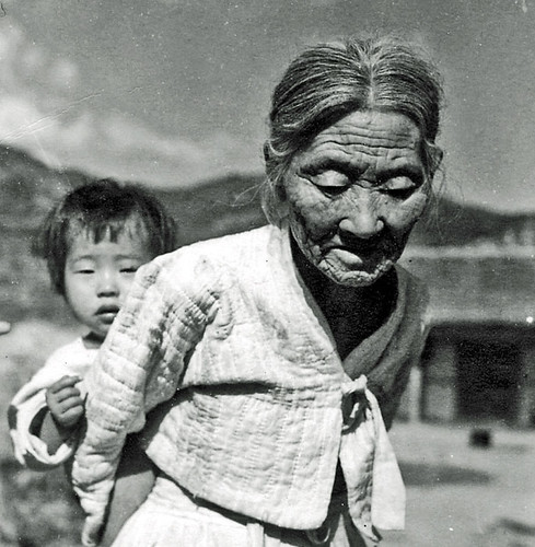 Korean Grandmother and Baby