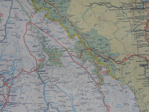 1956 B.C. Road Map