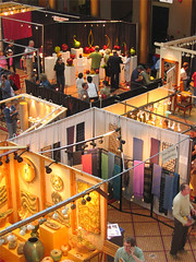 overhead shot of a tradeshow