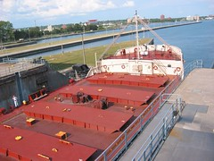 Freighter at the Soo Locks (bushidoking) Tags: saultstemarie soolocks