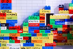 Bricks and names (bbarekas) Tags: bricks names colors lego duplo greek marathon expo zappeion athens attiki greece