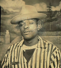 Photo Booth (~ Lone Wadi Archives ~) Tags: photobooth portrait africanamerican blackman lostphoto foundphoto mysterious unknown retro 1950s