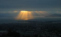 Light Seam #3 (KAGoldberg) Tags: sunset sky clouds landscape geotagged berkeley goldengatebridge alcatraz sanfranciscobay rays geo:lat=378752 geo:lon=1222502 kagoldberg bellavista1 lbnl1 myfaves1